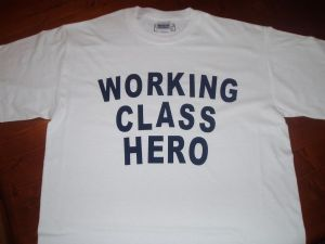MENS JOHN LENNON `WORKING CLASS HERO` T-SHIRT
